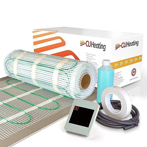 150w//m/² Thermostat Premium Quality Electric Dual Core Under Tile Heating BodenW/ärme Underfloor Heating Mat 1.5m/², Graphite Digital Thermostat