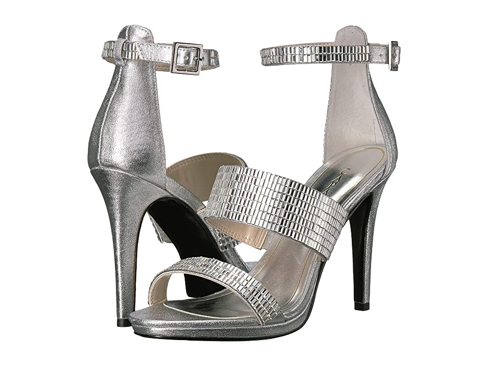 Caparros I-Star (Silver Metallic Fabric) High Heels