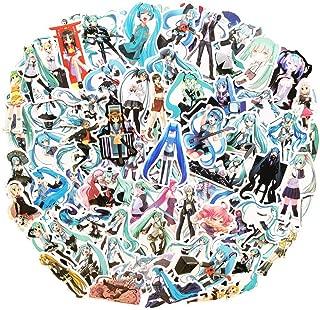 Hight Qulity Hatsune Miku Anime Girl Stickers(100pcs) Snowboard Laptop Luggage Car Motorcycle Bicycle Fridge DIY Styling Vinyl Home Décor (Hatsune Miku)
