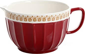 Gibson Home General Store Hollydale 11.25in Batter Bowl, Red