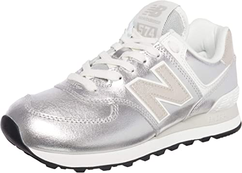 New Balance WL574PR2 Sneaker Donna Argento (Numeric_39)
