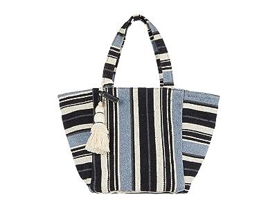 Lucky Brand Alzon Tote (Black Stripe) Handbags