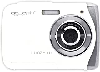 Easypix Aquapix W1024 - Cámara compacta digital (10 MP 2.4 zoom digital 4x VGA) color blanco