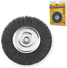 IVY Classic 39051 3-Inch x 1/2 - 3/8-Inch Arbor, Carbon Steel Crimped Wire Wheel Brush - 0.008-Inch Fine, 1/Card