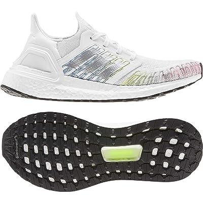 adidas Running Ultraboost 20 (Footwear White/Core Black/Signal Green) Women