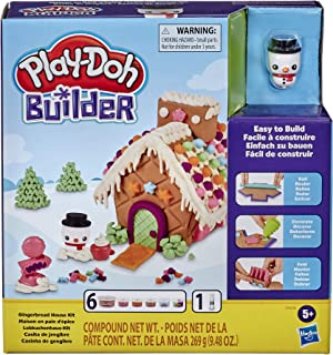 Play-Doh Builder Gingerbread House Toy Building Kit for...