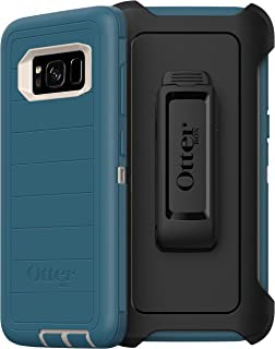 OtterBox Defender Series Rugged Case & Holster for Samsung Galaxy S8 - Non-Retail Packaging - Big Sur (with Microbial Defe...