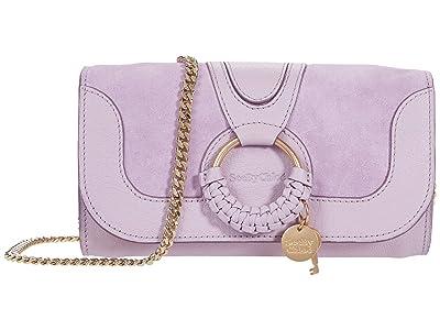 See by Chloe Hana Phone Wallet Crossbody (Lavender Mist) Handbags