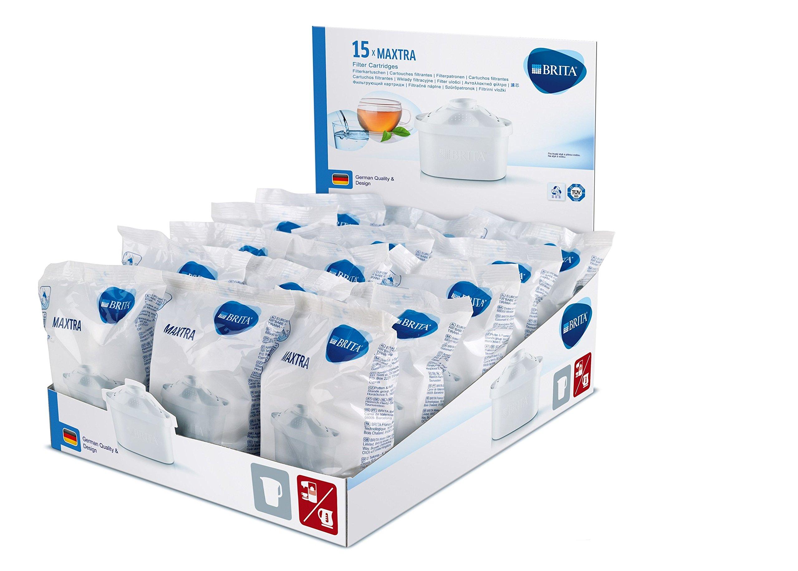 BRITA Maxtra Filtro de Agua, Carbón Activo, Blanco, Paquete de 15, Unidades: Amazon.es: Hogar
