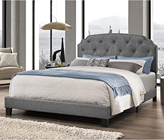 Best king size grey tufted bed Reviews