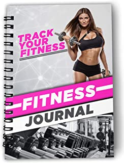 Exercise Journal for Women Workout Log Book Fitness Planner Daily, Weekly, Monthly Organizer with Hardcover (60 Days Plann...