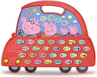 VTech - De alfabet Peppa Pig auto, speelgoed voor kinderen vanaf 3 jaar, leert het alfabet, ontdek nieuwe vokabularium, me...