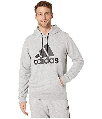 adidas Must Have French Terry Pullover Hoodie (Medium Grey Heather/Black) Men