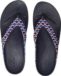 crocs Women's Scallop/Navy Flip-Flops-5 UK (37.5 EU) (7 US) (206399-9A3)