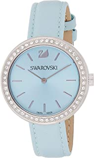 Swarovski Daytime Women's Blue Dial Leather Band Watch - 5095646
