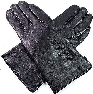 The Leather Emporium Ladies Womens Premium Quality Luxury Super Soft Genuine Leather Gloves Faux Fur Lined Winter Warm (X Large, Black)