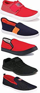WORLD WEAR FOOTWEAR Sports Running Shoes/Casual/Sneakers/Loafers Shoes for Men Multicolor (Combo-(5)-1219-1221-1140-383-466)