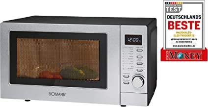 Bomann MWG 2285 H CB Encimera 20L 800W Acero inoxidable - Microondas