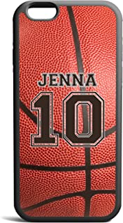 CodeiCases iPhone 5C Basketball Case With Name And Number, Basketball Custom Case, Cover Rubber Black Basketball iPhone Case