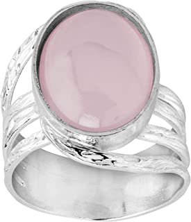 More is Mauve' Natural Pink Chalcedony Ring in Sterling Silver
