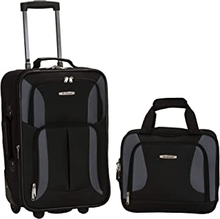 Rockland 2 Pc Luggage Set, Black/Gray (Black) - F102-BLACK/GRAY