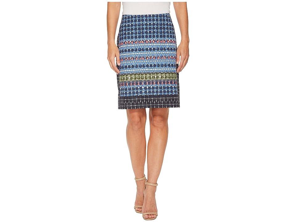 NIC+ZOE Tile Skirt (Multi) Women