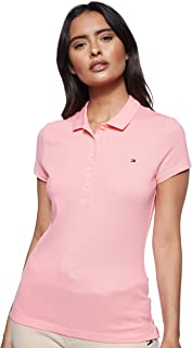Tommy Hilfiger Women's Short Sleeve Slim Polo Polo