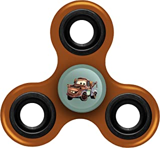 FOCO Disney Cars Diztracto Spinnerz Three Way Set-Mater Spinner Toy, Tan, 3