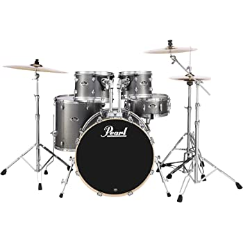 Pearl EXX725S/C708 Export Series 5-Piece Drum Kit, Grindstone Sparkle (Cymbals Sold Separately)