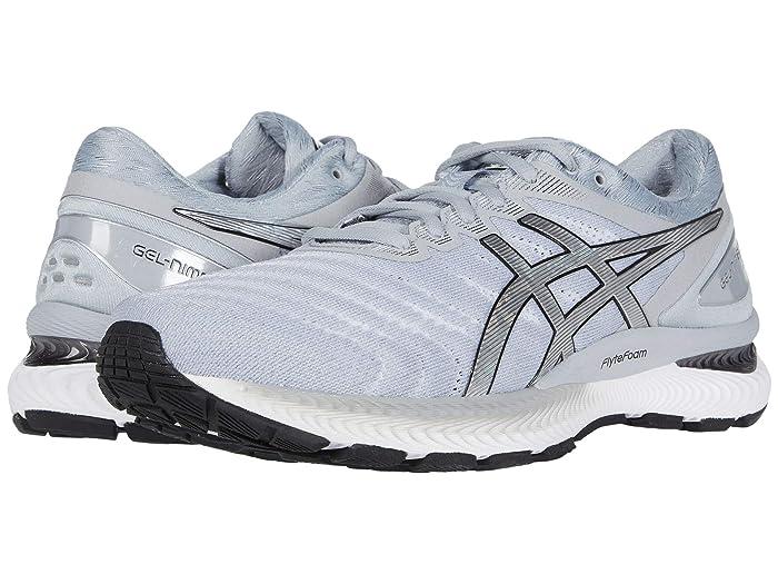 ASICS  GEL-Nimbus 22 (White/Pure Silver) Mens Running Shoes