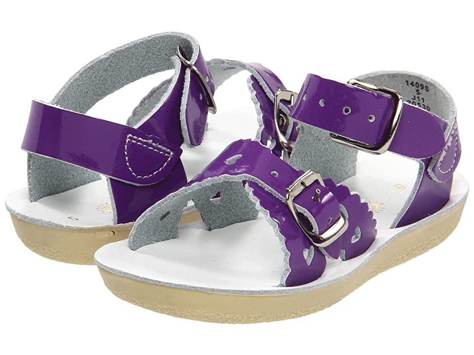 Salt Water Sandal by Hoy Shoes Sun-San Sweetheart (Toddler/Little Kid) (Shiny Purple) Girls Shoes