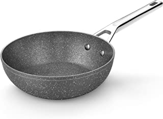 Monix Granite Wok 28 cm en aluminium forgé avec antiadhésif type pierre sans PFOA, induction