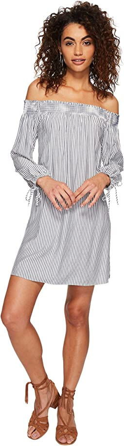 Minogue Boyfriend Stripe Dress with Back Cut Out