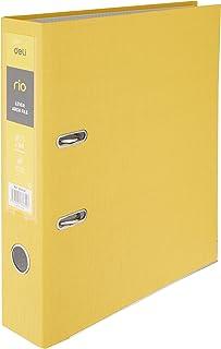 """Deli EB20150 Rio Lever Arch PP A4 File, 3"""" Spine, Yellow"""