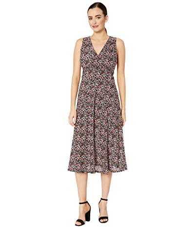 MICHAEL Michael Kors Mod Crossover Smocked Maxi (Black/Electric Pink) Women