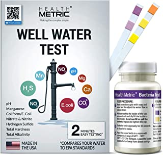 Well Water Test Kit for Drinking Water - Quick and Easy Home Water Testing Kit for Bacteria Nitrate Nitrite pH Manganese &...