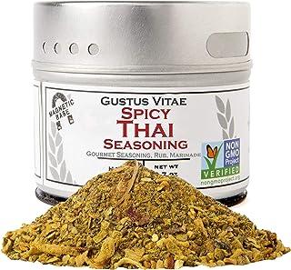 Gustus Vitae - Spicy Thai Seasoning - Non GMO Verified - Magnetic Tin - Authentic Gourmet Spice Blend - Cra...