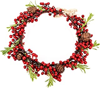Love Sweety Red Berry Pine Cone Crown Forest Woodland Headband