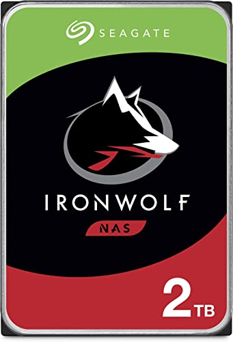 Seagate IronWolf 2TB NAS Internal Hard Drive HDD – CMR 3.5 Inch SATA 6Gb/s 5900 RPM 64MB Cache for RAID Network Attac...