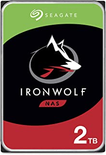 Seagate IronWolf 2TB NAS Internal Hard Drive HDD – CMR 3.5 Inch SATA 6Gb/s 5900 RPM 64MB Cache for RAID Network Attached S...