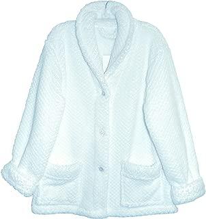 La Cera Women's Shawl Collar Bed Jacket Plus Size