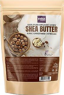 Paiya Organics® 1 kg Raw Unrefined Organic Shea Butter For Skin Face Hair, PETA Cruelty Free & vegan, Super Saver Pack