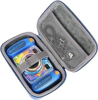 co2CREA Viajar Llevar Fundas Estuche Case para VTech Kidizoom Duo 5.0 cámara de Fotos Digital(Case Only) (Azul)