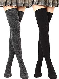 Winter Thigh High Socks Over Knee Stockings Thick Long Boot Socks for Women