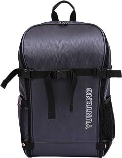 Yunteng® Multipurpose DSLR/SLR Camera/Traveller Backpack with 15.6 inch Laptop Compartment, Padded Custom Dividers, Tripod Holder, Rain Cover - Dark Grey