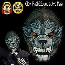Halloween mask neon mask led mask Light up mask Light mask Cosplay mask