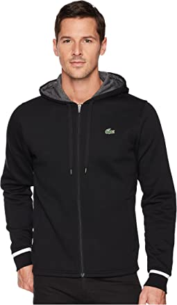 Lacoste Long Sleeve Molleton Gratte Hoodie w/ Novak Graphic On Back