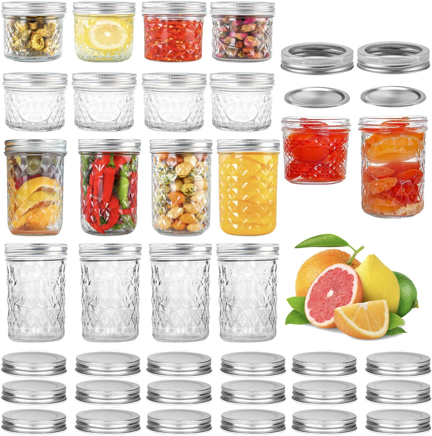 16 Pack In a popularity Mason Jars Regular 4 Mouth 8 oz Super special price