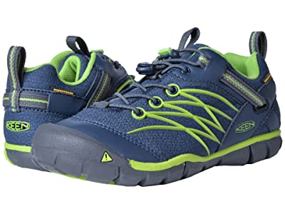 Keen Kids Chandler CNX WP (Little Kid/Big Kid) (Dress Blues/Greenery) Boys Shoes