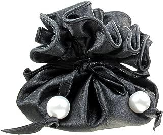 TropicaZona Satin Drawstring Jewelry Pouch, 16 Pockets, Black, by Marisa D'Amico